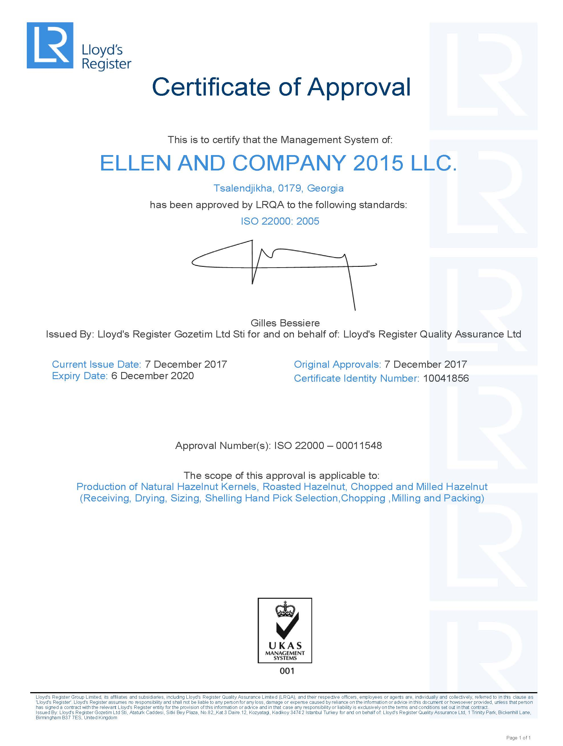 Product Specifications – Ellen and Company